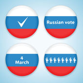 Set of russian presidential election badges — Stock Vector