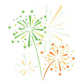 Firework in honor of st. Patrick's day — Stock Vector