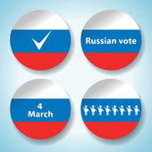 Set of russian presidential election stickers — Stock Vector
