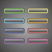 Botonaduras brillantes web — Vector de stock