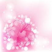 Kolorowe tło z kwiatami — Wektor stockowy