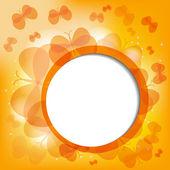 Abtract background with orange butterflies — Stock Vector