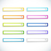 Set of color search bars — Stock Vector