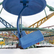Amusement park in the winter — Stock Photo