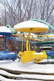 Kış eğlence parkı — Stok fotoğraf