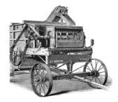 Maszyny rolnicze, 1897 — Zdjęcie stockowe