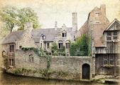 Kanál bruggy, belgie — Stock fotografie