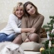 Stock Photo: Portrait of mother with daughter