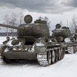 Royalty-Free Stock Photo: Old Russian Tanks