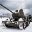 Royalty-Free Stock Photo: Legendary Russian Tanks T34