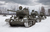 Old Russian Tanks — Stock Photo