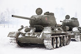 Russian Tanks T34 — Stock Photo