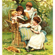 Stock Photo: Children read book