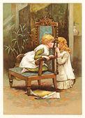 Children's secrets — Stock Photo