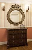 Hallway with a mirror — Stock Photo