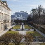 Mirabell Gardens in Salzburg, Austria — Stock Photo