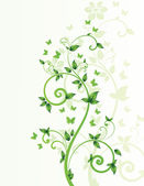 Magic spring tree with butterflies and space for text — 图库矢量图片