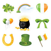 Collection of illustration of Saint Patrick's day elements — Stok Vektör