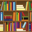 Vector illustration of bookshelf - Stock Vector