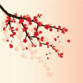 Rama de sakura — Vector de stock