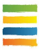 Grunge bannières avec un espace pour le texte de couleur — Vecteur