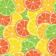 Citrus vector seamless — Stockvectorbeeld
