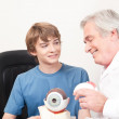 Optometrist and Patient — Stock Photo