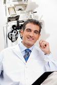 Smiling Optometrist At His Clinic — Stock Photo
