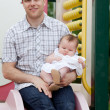Young Father with Little Baby Girl — Stock Photo