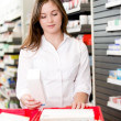 Pharmacist with Drug Product — Stock Photo