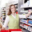 Pharmacist Looking For Medicine — Stock Photo