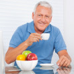 Senior Man Having Cup of Tea — Stock Photo