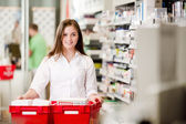 Portrait of Attractive Female Pharmacist — Stock Photo