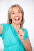 Cheerful Mature Woman — Stock Photo