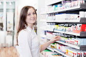 Female Pharmacist in Pharmacy Store — Stock Photo