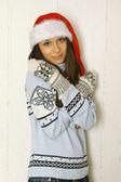 Winter vrouw — Stockfoto