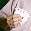 Stock Photo: Winning Hand