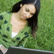 Woman with a Laptop — Stock Photo #9829462