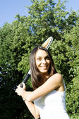 Woman Tennis Player — Stock Photo