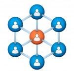 Social network symbol — Stock Photo #8902949