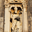Statue of Saint Vlaho over Pile Gate - Stock Photo
