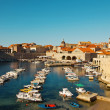Dubrovnik old town pier - Stock Photo