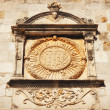 Detailed seal on the Dubrovnik City Walls - Stock Photo