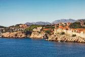 Panoramic view of Dubrovnik City Walls — Stock Photo