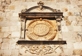 Detailed seal on the Dubrovnik City Walls — Stock Photo