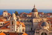 Dubrovnik Old Town at sunset — Stock Photo