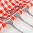 Stock Photo: Steel Forks