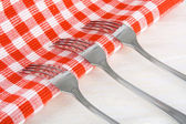 Steel Forks — Stock Photo