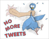 No more tweets — 图库照片