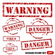 Grunge Danger stamp set — Stock Vector #10289260